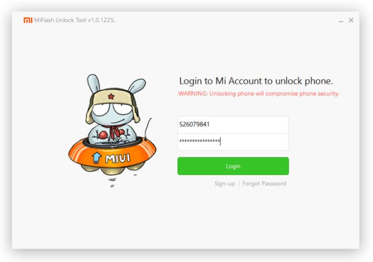 Mi Flash Unlock